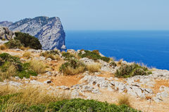 Cliff coast in Mediterranean Sea Stock Image