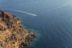 Cliff coast of the town Oia in Santorini, Greece Royalty Free Stock Images