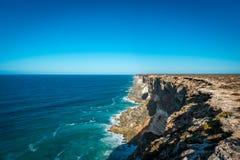 Cliff Coastline, Nullarbor Plain Stock Photos