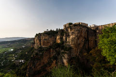 The cliff Convent of Santo Domingo at Ronda Spain Royalty Free Stock Photography