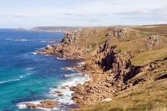 cliff cornish Fotografia Stock