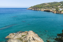 Cliff on the Costa Brava, Catalonia, Spain Royalty Free Stock Photos