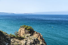 Cliff on the Costa Brava, Catalonia, Spain Royalty Free Stock Images