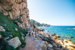 Cliff in Costa Paradiso Royalty Free Stock Photography