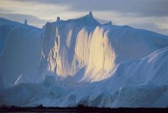 Cliff Covered With Ice Stock Photo
