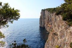 Cliff Croatia Royalty-vrije Stock Foto