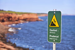 Cliff Danger Sign Royalty Free Stock Photos