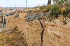 Cliff Detail Surface Plants Mediterraneo immagini stock