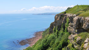 Cliff. Cliff in Devon - South West England Royalty Free Stock Photos