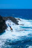 Cliff Dive Royalty Free Stock Images