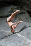 Cliff diver Stock Photo