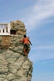 Cliff Diver Climbing stock photos