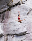 Cliff divers compete for WHDF title. Stock Images