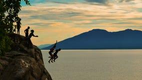 Free Cliff Diving At Kande Beach, Nkhata Bay, Lake Malawi, Malawi Royalty Free Stock Image - 125058176