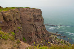 Cliff at Dunmore East. Cliff view of ocean at Dunmore East, Co. Waterford, Ireland Stock Photo