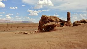 Cliff Dweller Home vermillon en Arizona Image stock