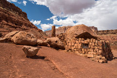 Cliff Dwellers. Native American home in Cliff Dwellers, located in Northern Arizona at Marble Canyon and at the foot of Vermillion Cliffs, is known for its Royalty Free Stock Images