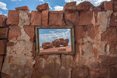 Cliff Dwellers. Native American home in Cliff Dwellers, located in Northern Arizona at Marble Canyon and at the foot of Vermillion Cliffs, is known for its Royalty Free Stock Photography