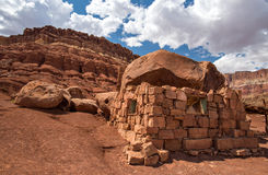 Cliff Dwellers. Native American home in Cliff Dwellers, located in Northern Arizona at Marble Canyon and at the foot of Vermillion Cliffs, is known for its Stock Photo