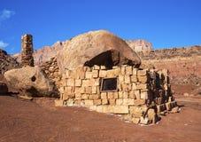 Cliff dwellers village. Vermilion cliffs - cliff dwellers village in Arizona Royalty Free Stock Images