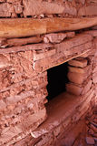 Cliff dwelling doorway. Native American cliff dwelling doorway with rock walls and wooden lintel Royalty Free Stock Photos
