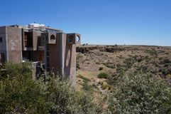 Cliff dwelling hippies. Arcosanti cliff dwellers Royalty Free Stock Images
