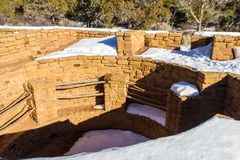Cliff Dwelling i Mesa Verde NP royaltyfria bilder