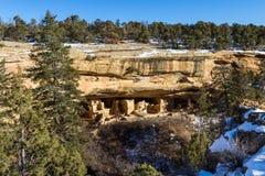 Cliff Dwelling i Mesa Verde NP arkivbilder