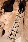 Cliff Dwelling Ladder royaltyfria bilder