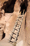Cliff Dwelling Ladder Royalty Free Stock Images