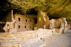 Cliff Dwelling at Mesa Verde. National Park Stock Image