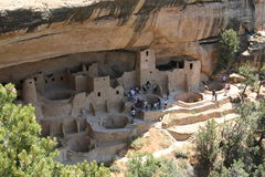 Cliff Dwelling at Mesa Verde. Ancient Pueblo Indian cliff dwelling, Mesa Verde National Park, near the four corners area, Colorado Stock Photo