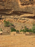 Cliff Dwellings. Ancient Cliff Dwellings in Mali Africa Stock Photo