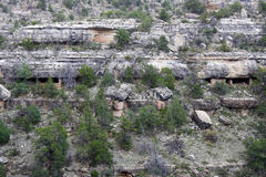 Cliff Dwellings. Native American cliff dwelling ruins in Walnut Canyon National Monument, Arizona Stock Photography