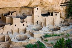 Cliff Dwellings. Ancient American Indian Cliff Dwellings in Southwest Colorado Stock Images