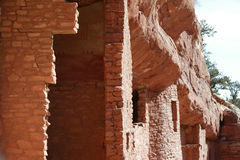 Cliff dwellings in Colorado Springs Stock Image