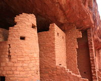 Cliff dwellings at Manitou Stock Image