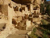 Cliff dwellings at Mesa Verde. Colorado, near The Four Courners Royalty Free Stock Photo