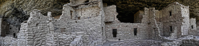 The cliff dwellings in Mesa Verde National Park Colorado USA. There are about 600 cliff dwellings with the National Park. Royalty Free Stock Photography