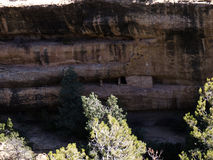 The cliff dwellings in Mesa Verde National Park Colorado USA. There are about 600 cliff dwellings with the National Park Stock Photos