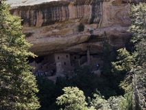 The cliff dwellings in Mesa Verde National Park Colorado USA. There are about 600 cliff dwellings with the National Park Royalty Free Stock Photography