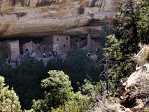 The cliff dwellings in Mesa Verde National Park Colorado USA. There are about 600 cliff dwellings with the National Park Stock Images