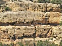 Cliff Dwellings på Mesa Verde National Park Arkivfoto