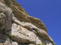 Cliff edge. Top of cliff looking from below Royalty Free Stock Photos