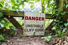 Cliff Edge Fotos de Stock Royalty Free