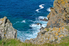 Cliff edge in cornwall Royalty Free Stock Photo