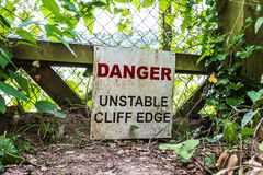 Cliff Edge Royalty Free Stock Photos
