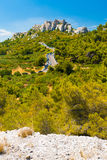 Cliff Edge Street Chateau Des Baux Ruins Royalty Free Stock Image