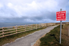 Cliff Edge Walk Warning