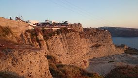 Cliff edged Santorini, Oia Royalty Free Stock Photos